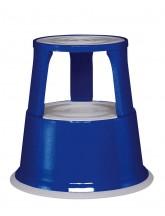 Metall-Rollhocker, blau