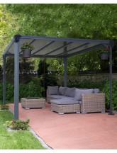 Profi Pavillon Milano 3000 (Aluminium/ Polycarbonat)