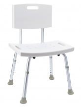 Badezimmer Stuhl mit Lehne, höhenverstellbar