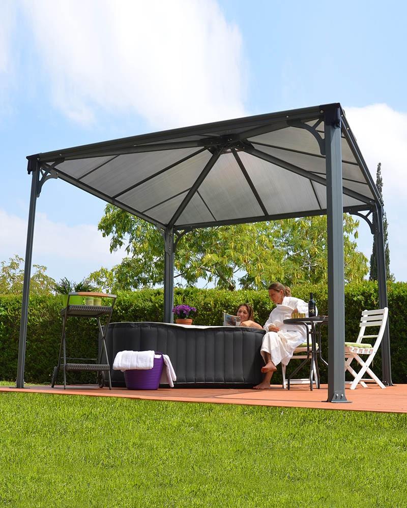 palram profi pavillon palermo 3000 aluminium. Black Bedroom Furniture Sets. Home Design Ideas