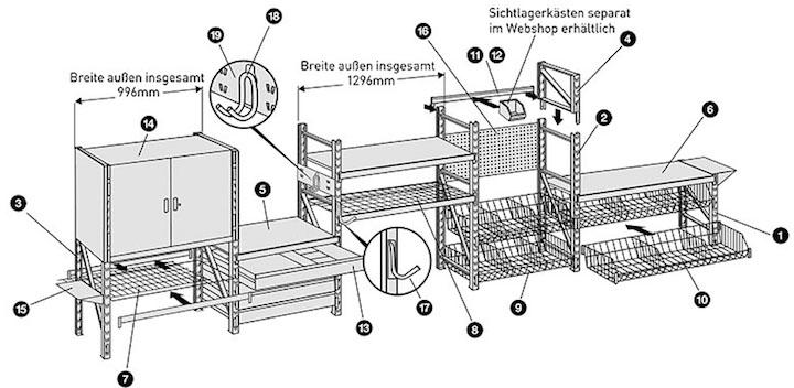 regalsystem keller. Black Bedroom Furniture Sets. Home Design Ideas