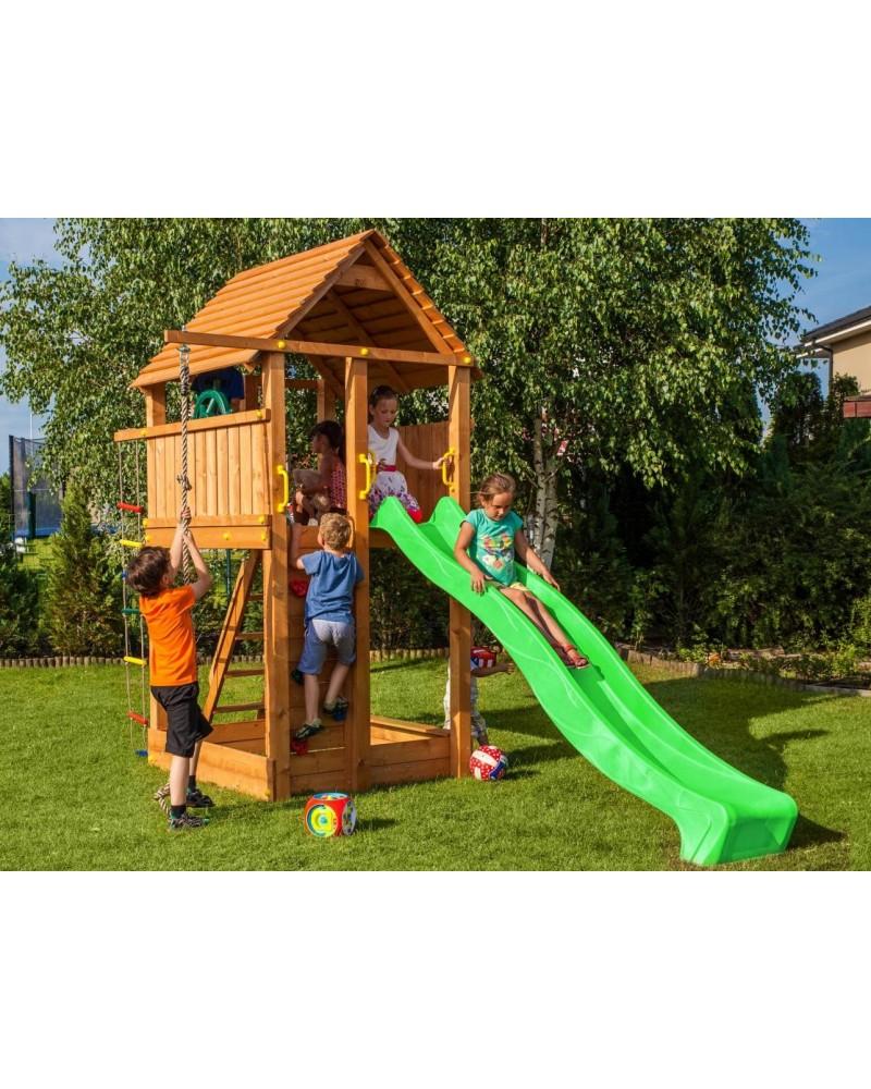 Überdachung Aus Holz Hier Günstig Kaufen Qsgartendecode: Fungoo Spielturm Mit Rutsche FORTRESS Bei HOME-WORLD.CH Kaufen