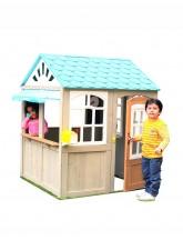 Faltbares Gartenspielhaus blau KidKraft