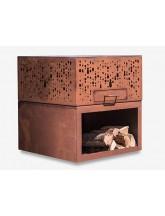 eldur Pro Cube mit Holzlager