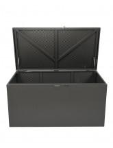Metallkissenbox quarz grau